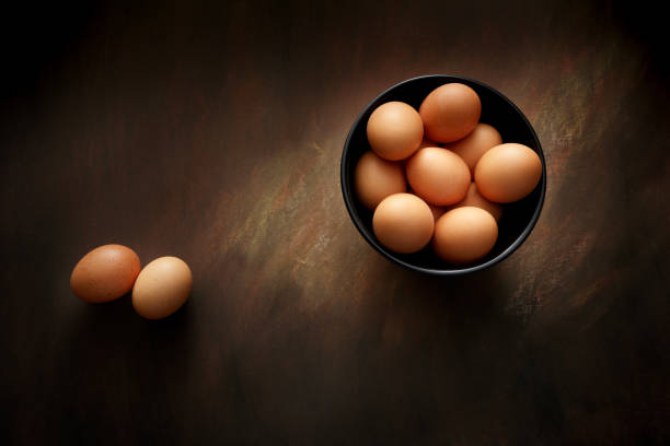 Eggs: Eggs in Bowl Still Life stock photo