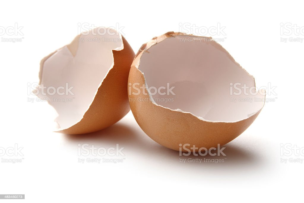 Eggs: Eggshells royalty-free stock photo