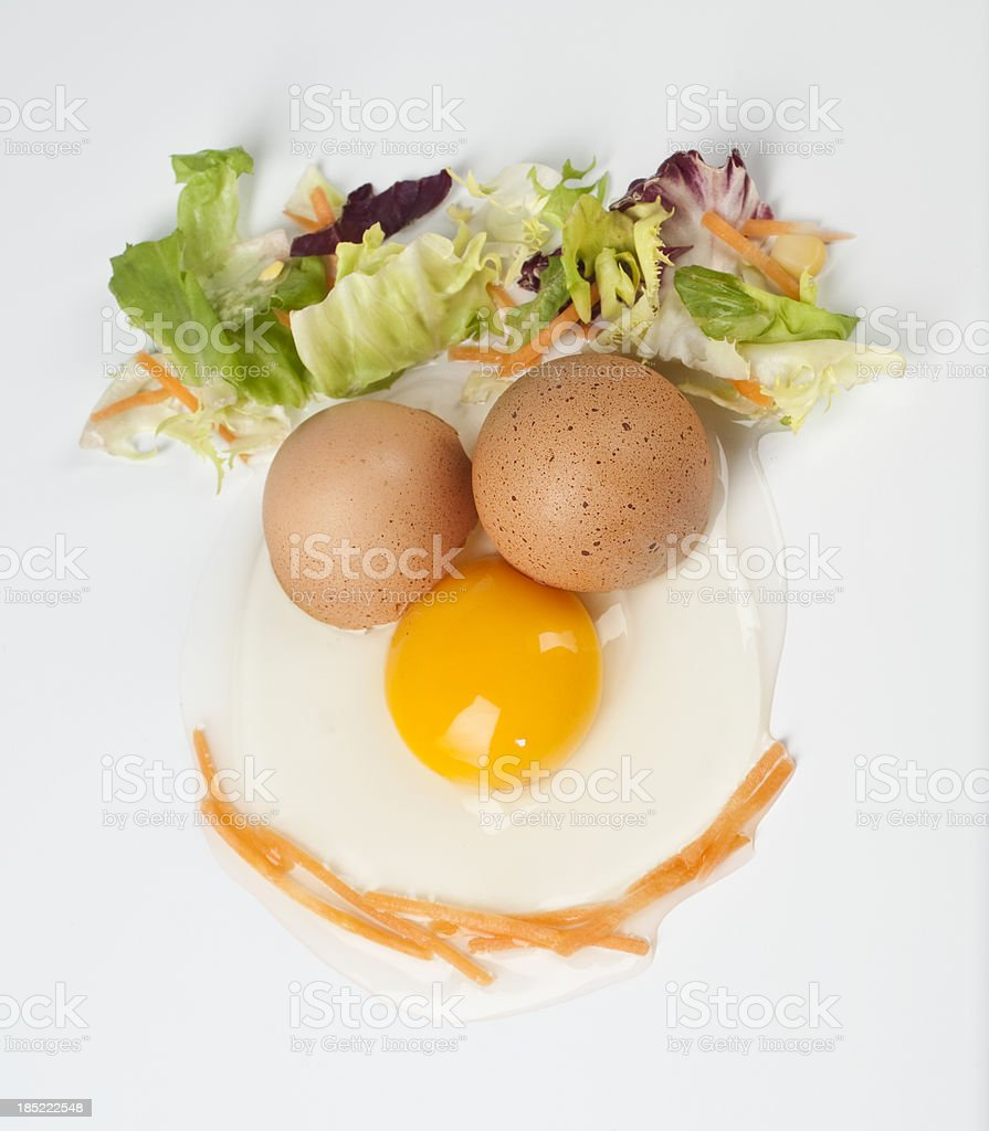 eggs face stock photo