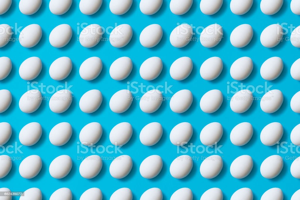 Eggs flat lay stock photo