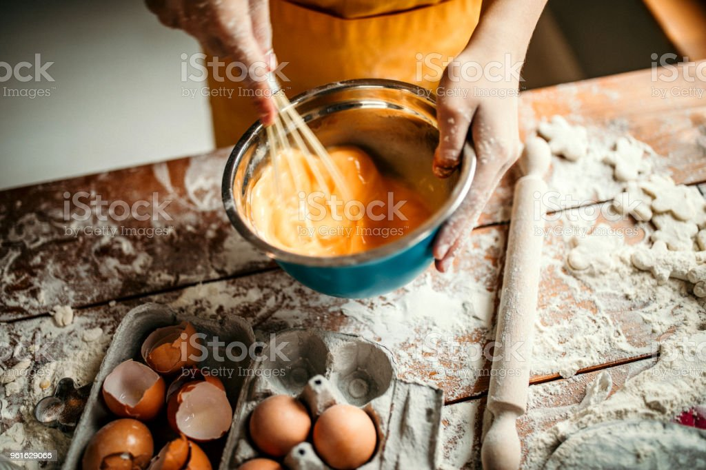 Eggs for desert stock photo