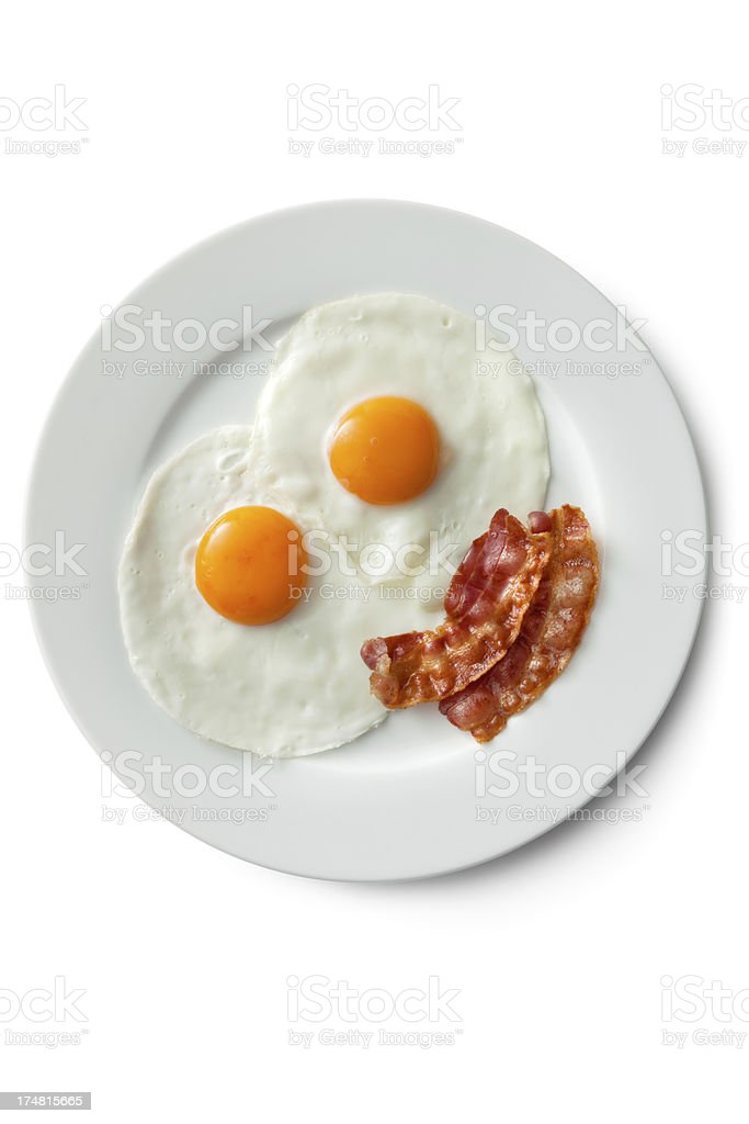 Eggs: Fried Egg and Bacon stock photo