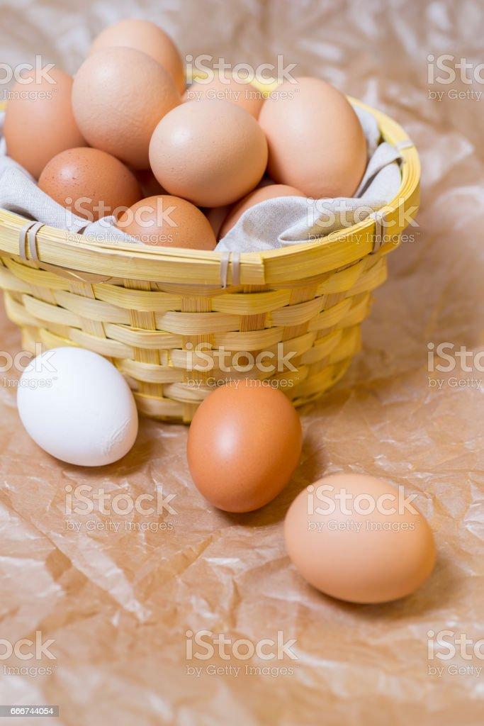 Eggs in basket foto stock royalty-free