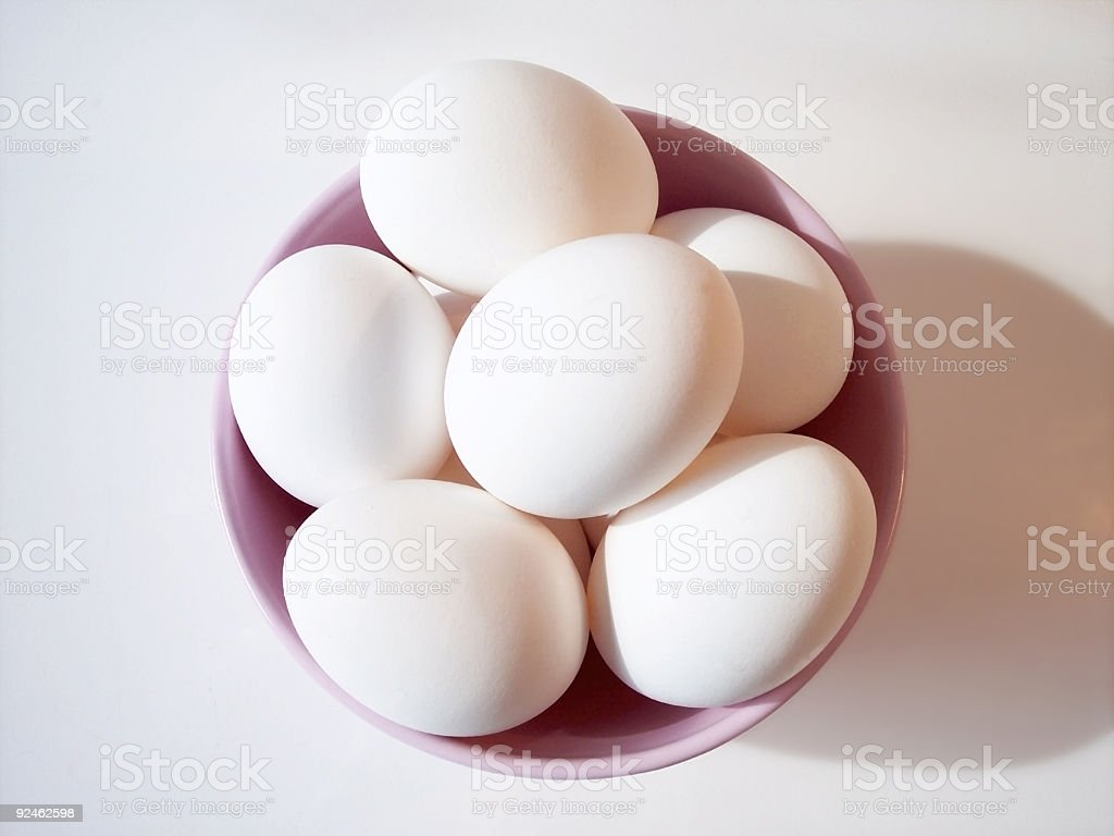 Eggs in Bowl 2 royalty-free stock photo