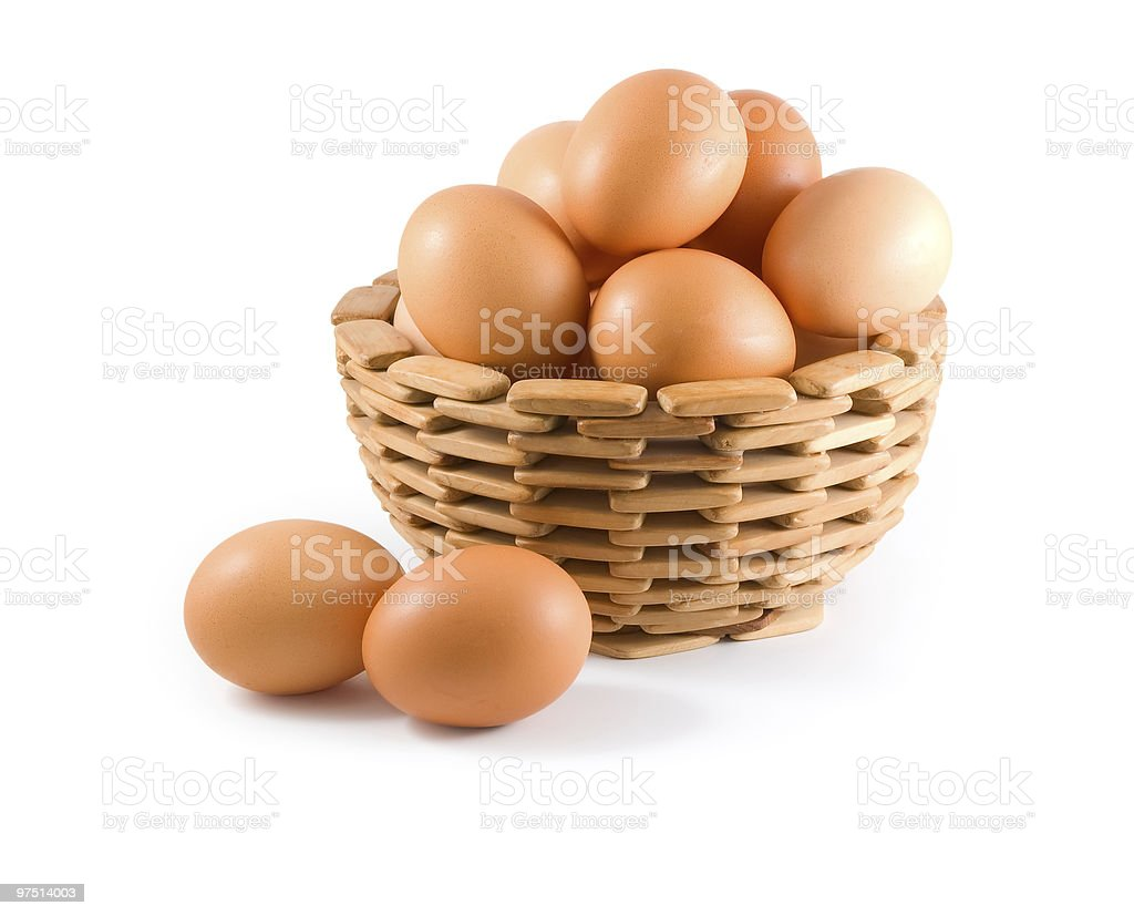 eggs in bowl royalty-free stock photo