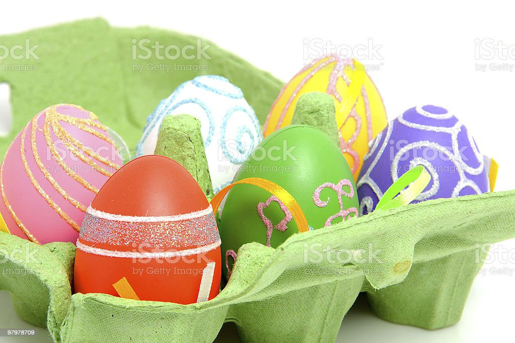 eggs in box royalty-free stock photo