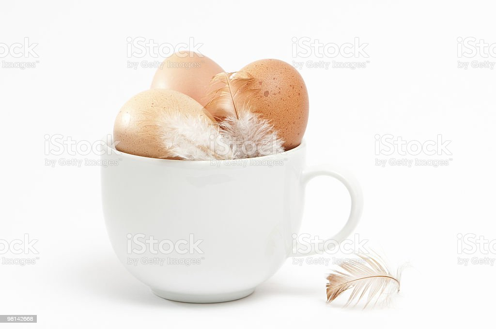 Eggs in Cup royalty-free stock photo