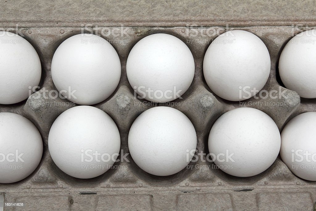 eggs in pack royalty-free stock photo