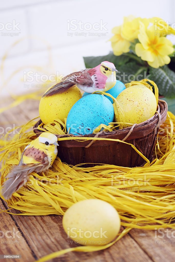 eggs in the basket royalty-free stock photo