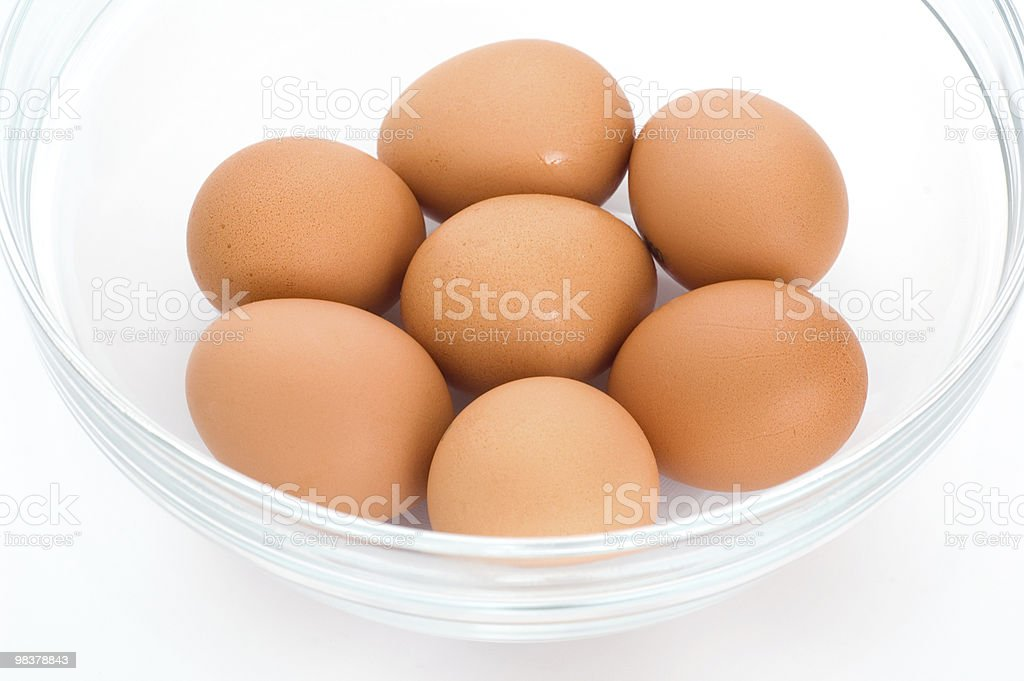 Eggs in the bowl royalty-free stock photo