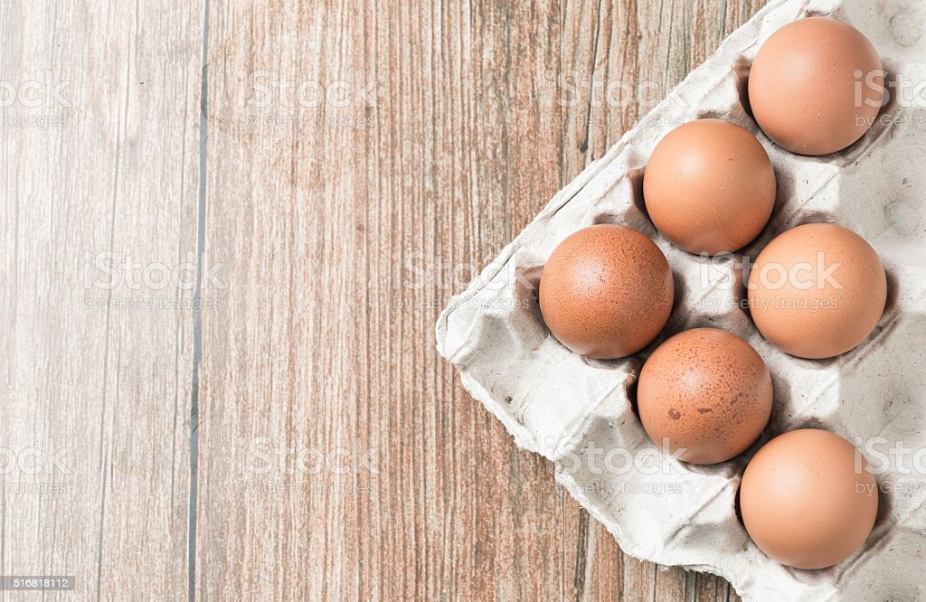 Eggs in the package. stock photo