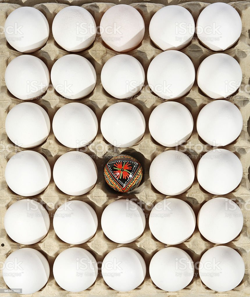 eggs in the package royalty-free stock photo
