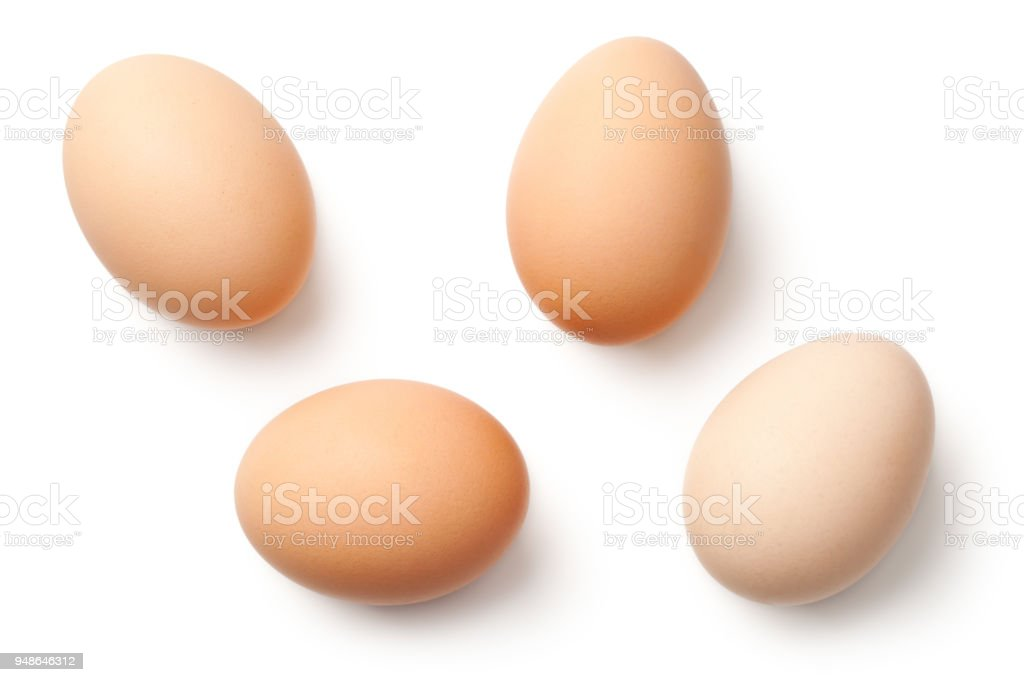 Eggs Isolated on White Background – zdjęcie