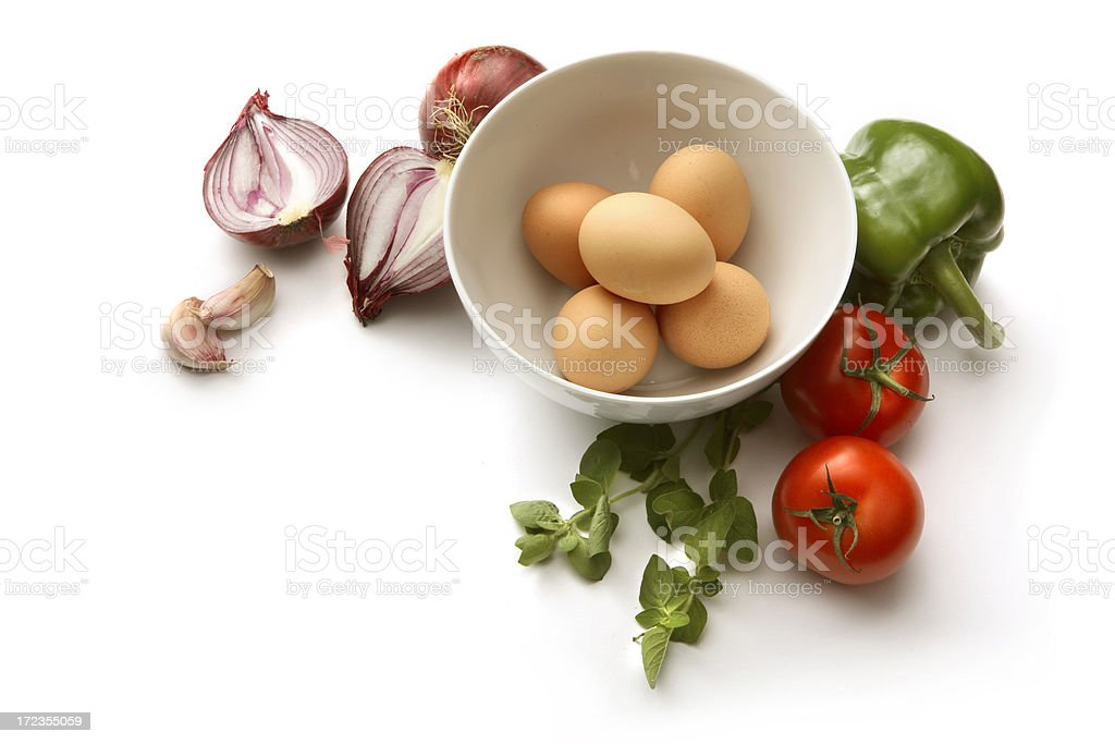 Eggs: Omelet Ingredients royalty-free stock photo