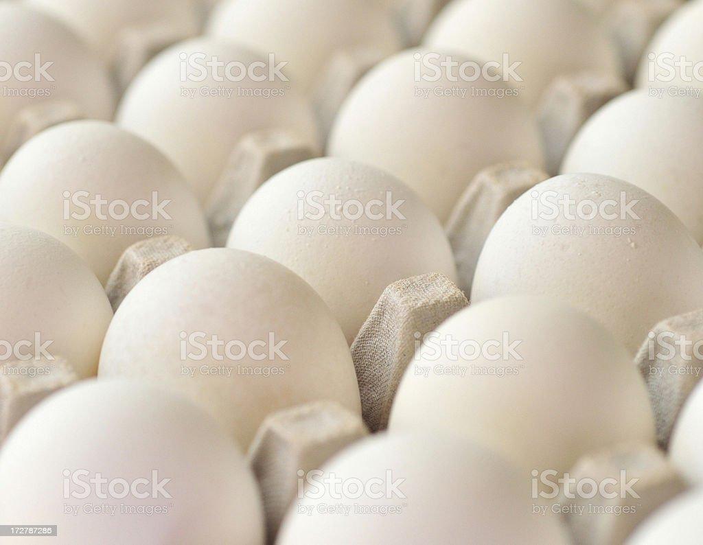 Eggs On A slant royalty-free stock photo