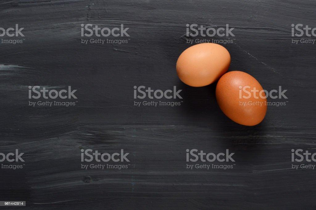 Eggs on Black Background stock photo