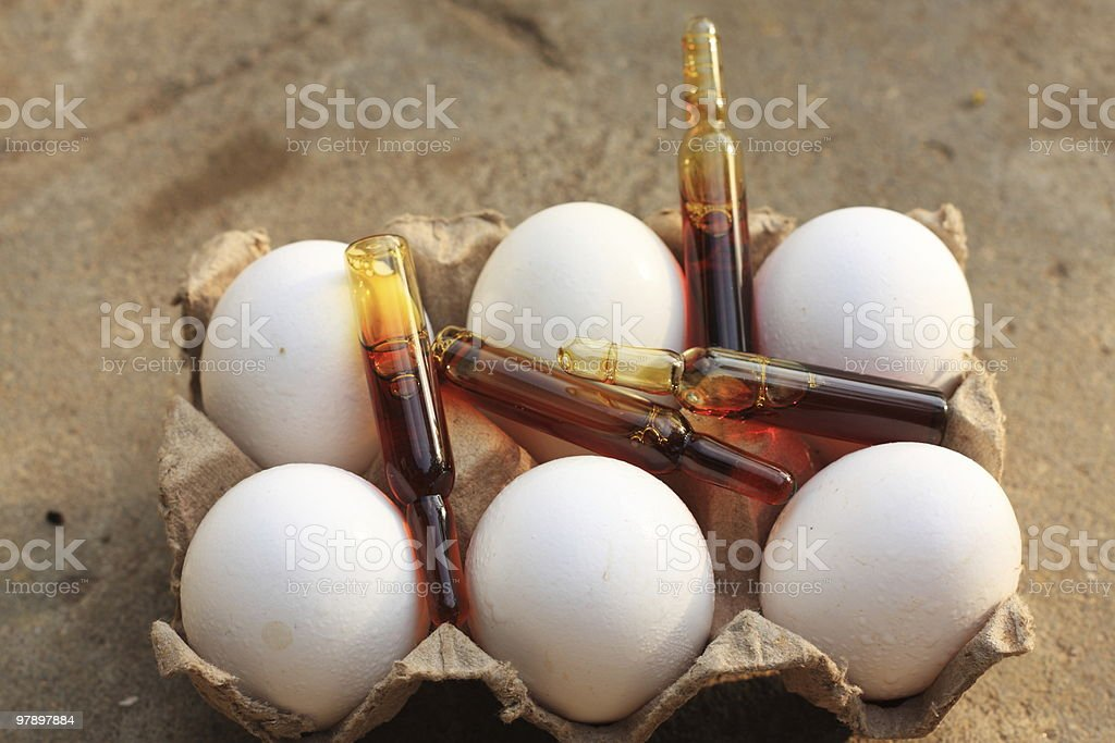 eggs on steroids royalty-free stock photo
