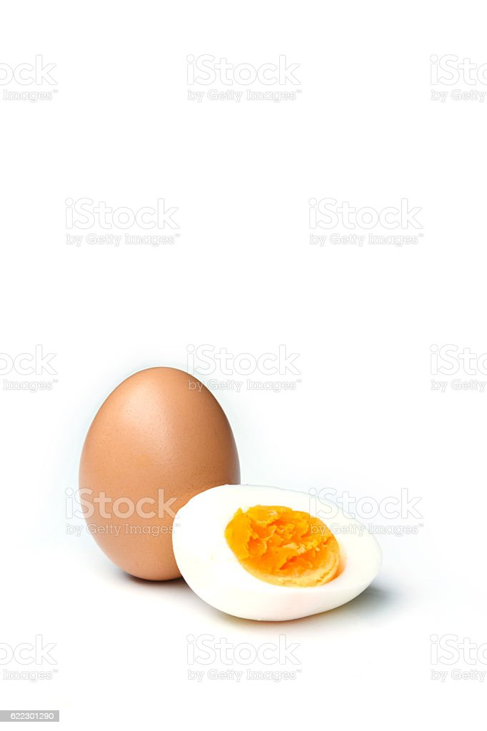 eggs on white background stock photo