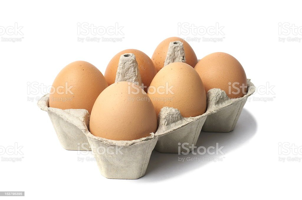 Eggs on White royalty-free stock photo