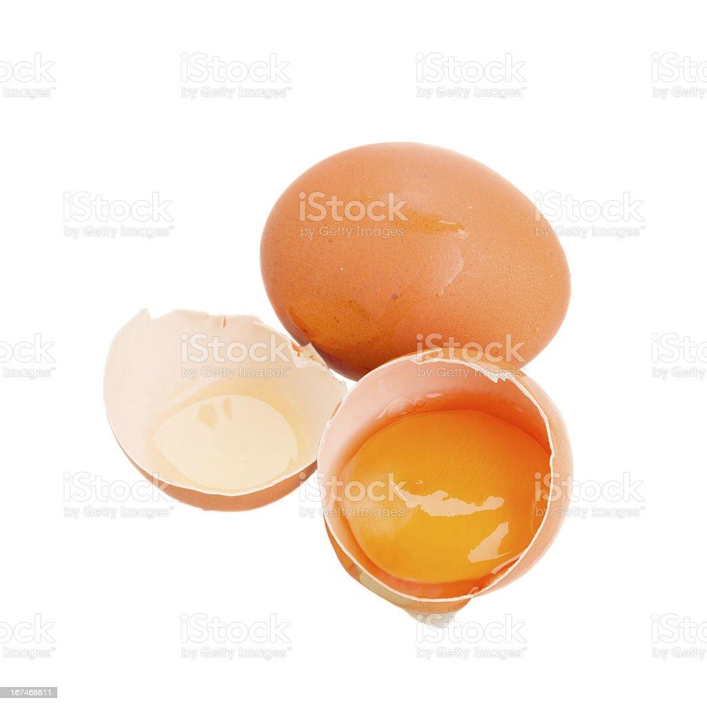 eggs on white royalty-free stock photo