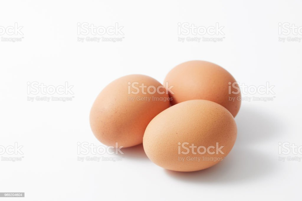 eggs on white zbiór zdjęć royalty-free