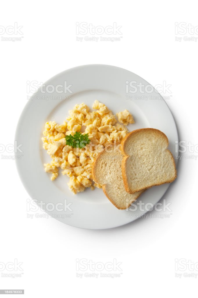 Eggs: Scrambled Egg and Toast royalty-free stock photo
