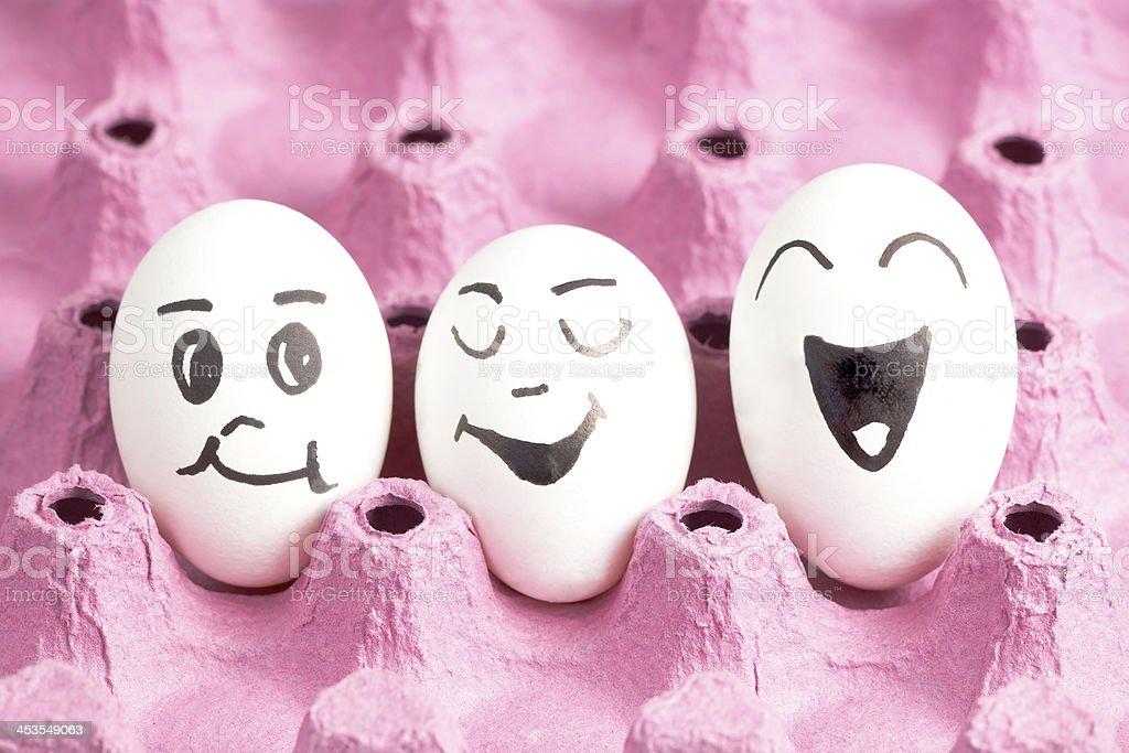 eggs smileys stock photo