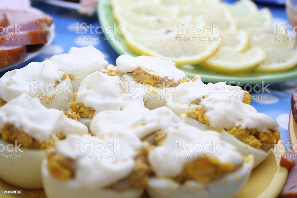 Eier unter mayonnaise Lizenzfreies stock-foto