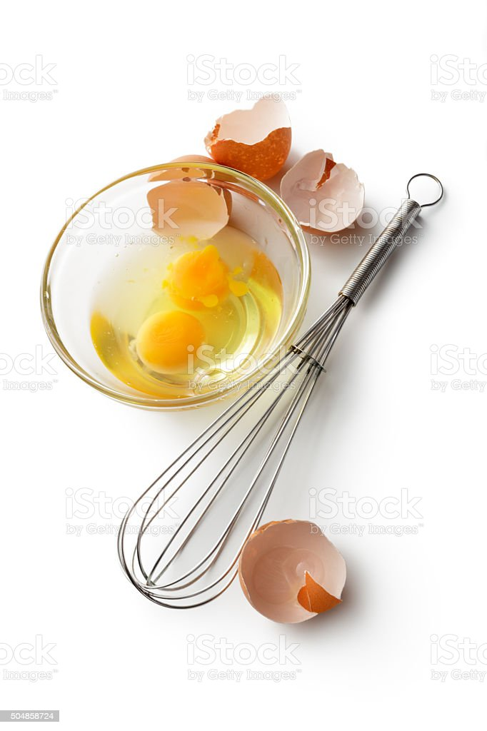 Eggs: Whisk, Bowl and Eggs stock photo