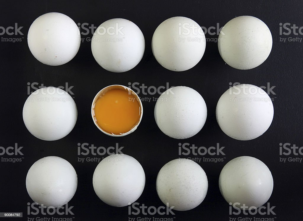 Eggs with black background royalty-free stock photo