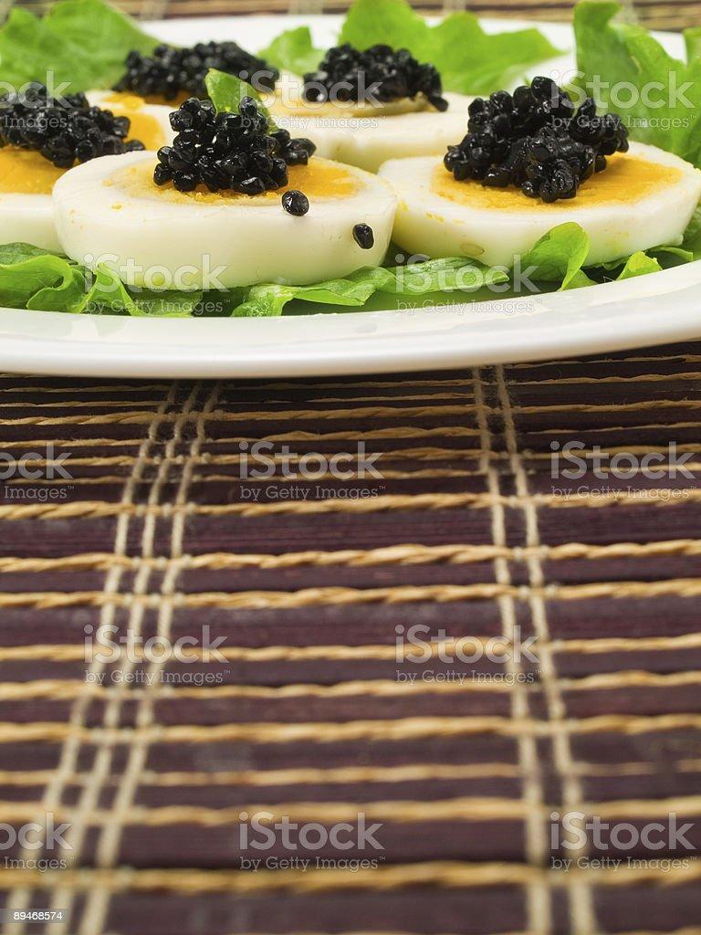 Яйцо с черной икры Стоковые фото Стоковая фотография