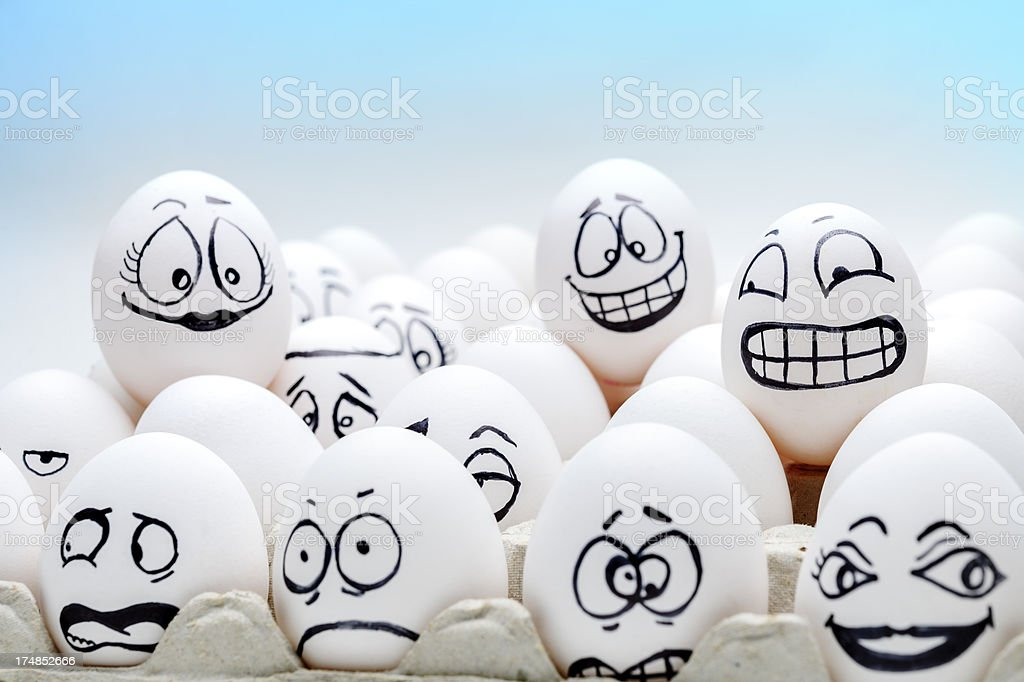 eggs with expressions royalty-free stock photo