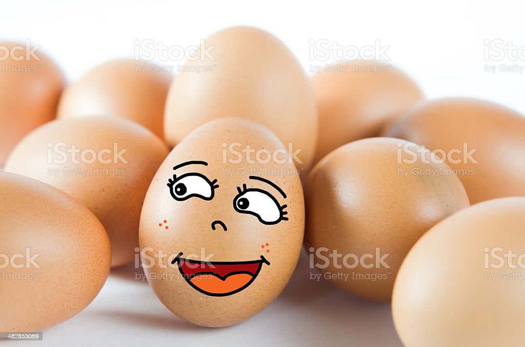 eggs with face royalty-free stock photo