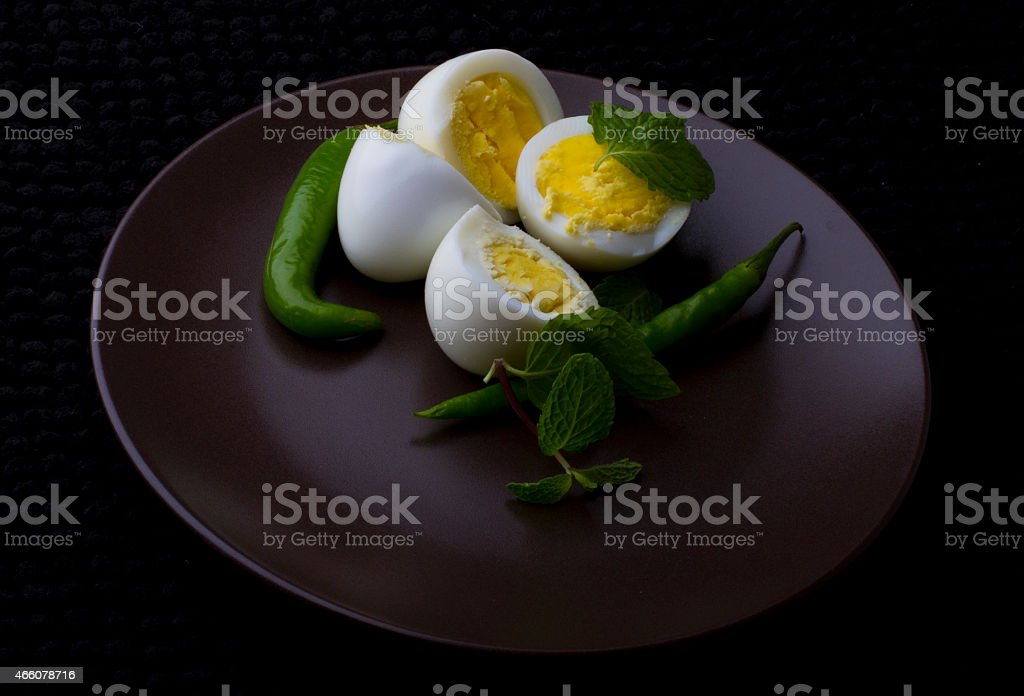 Eggs With Mint stock photo