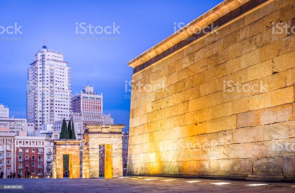 Egipt in Madrid Downtown stock photo