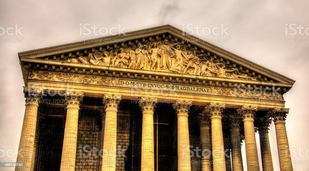Eglise de la Madeleine in Paris, France stock photo