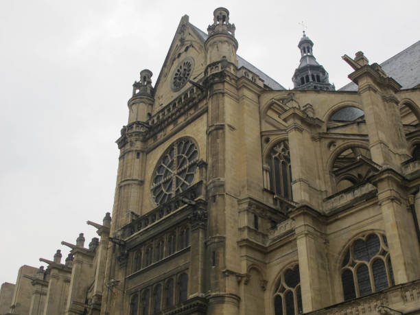 eglise saint-eustache, paris - saint eustache church foto e immagini stock