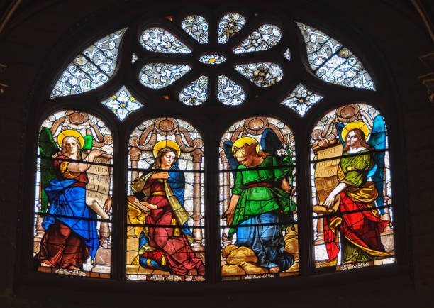 eglise saint-eustache - paris - saint eustache church foto e immagini stock