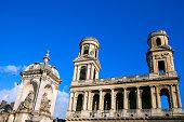 Eglise Saint-Sulpice cathedral in Paris . Roman Catholic Church in Paris