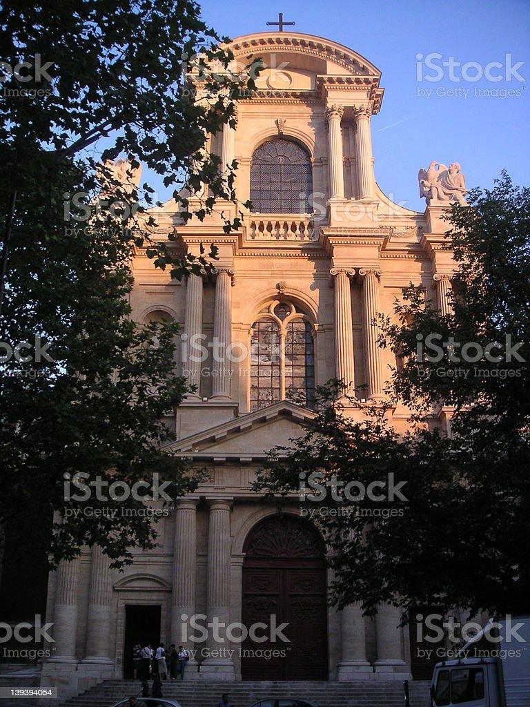 Eglise St. Gervais royalty-free stock photo