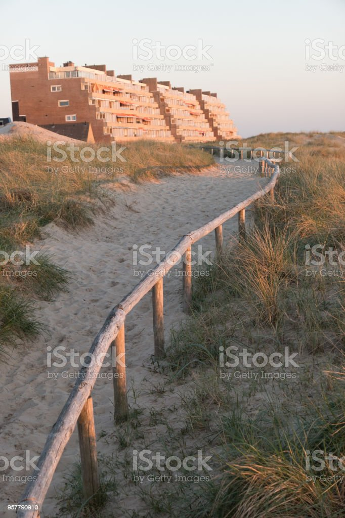 egmond an zee in the netherlands stock photo