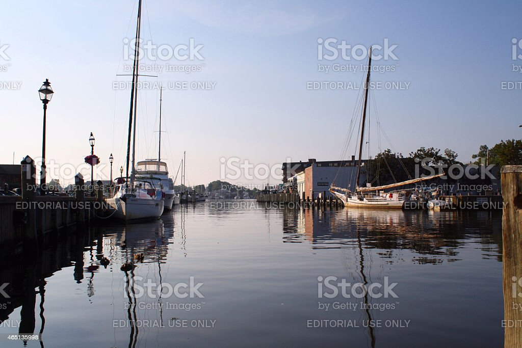 Ego Alley at City Dock,  Annapolis, Maryland stock photo