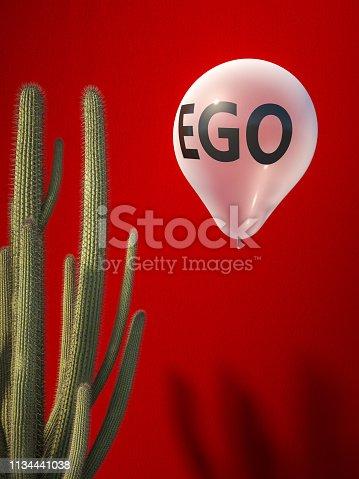 istock ego balloon and catus 1134441038