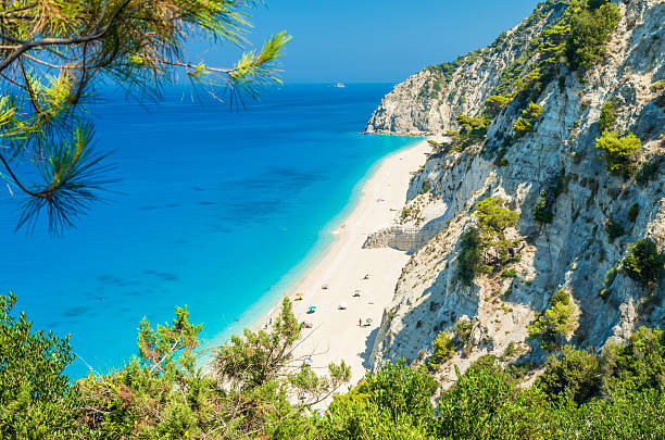 Egremni Strand, Insel Lefkada, Griechenland – Foto