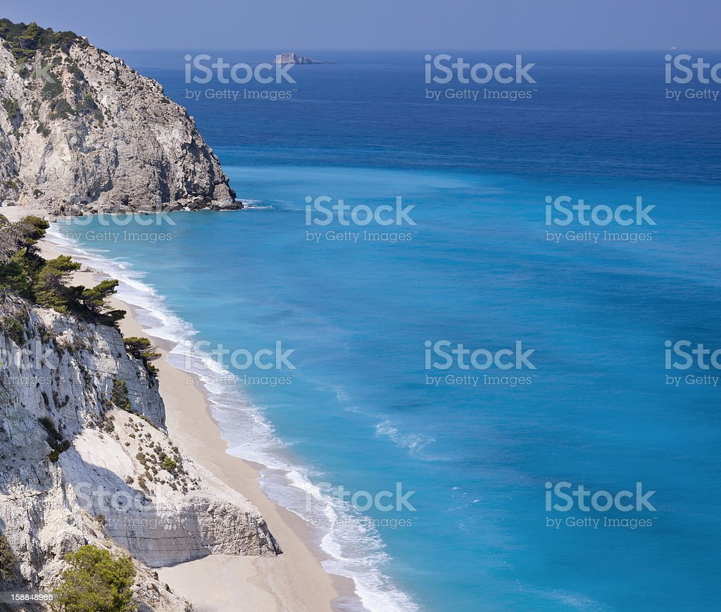 Egremnoi beach (Lefkada island,Greece) stock photo