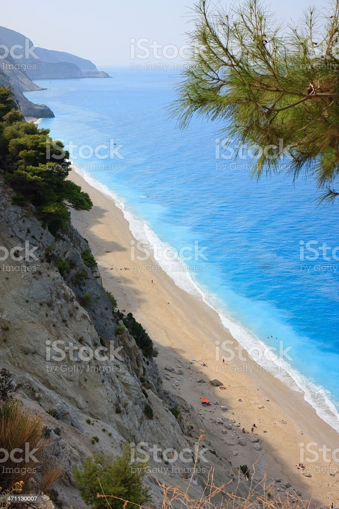 Egremnoi beach stock photo