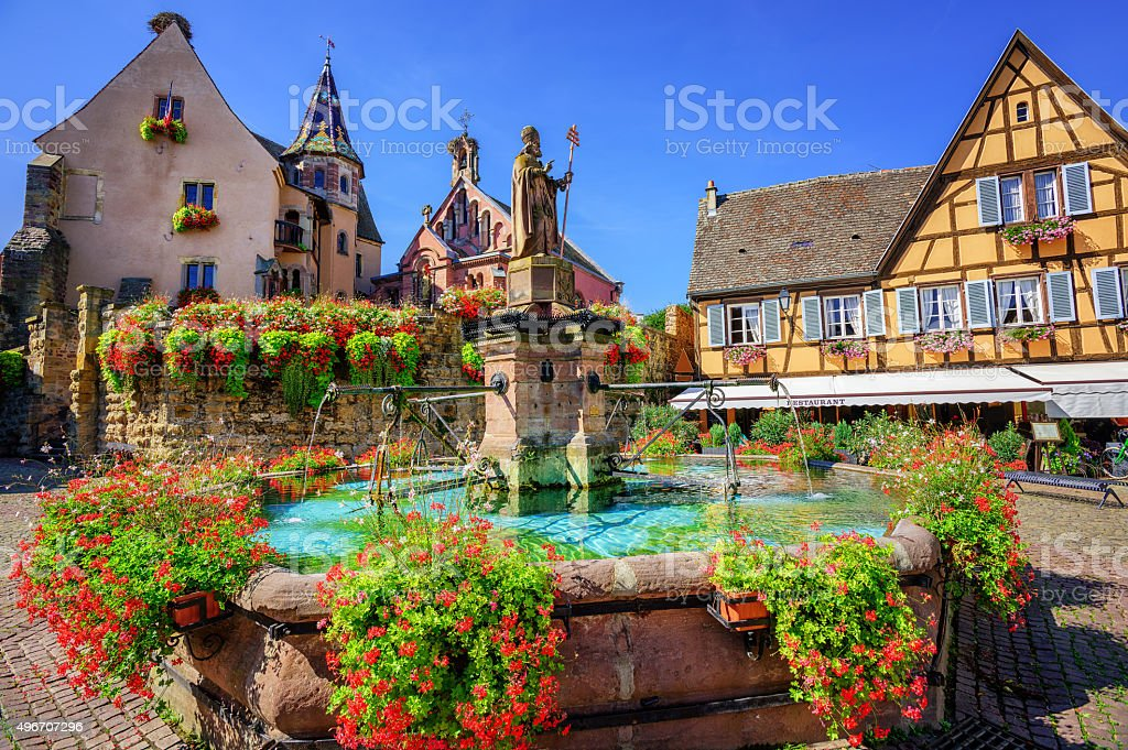 Eguisheim, France stock photo
