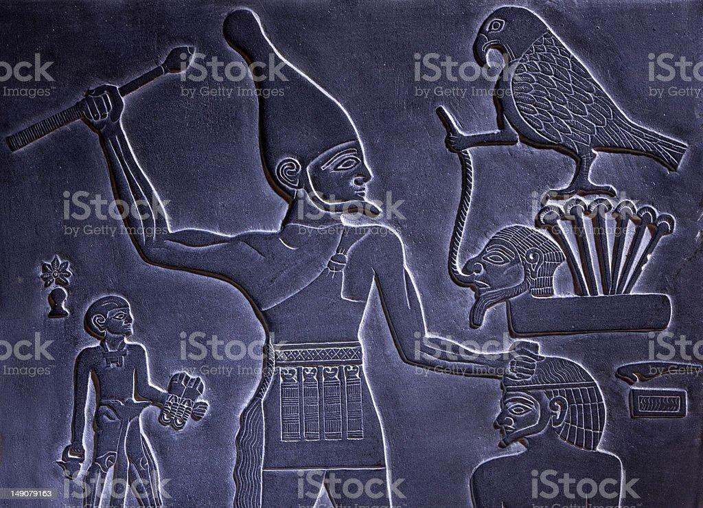 Egypitan Hieroglyph royalty-free stock photo