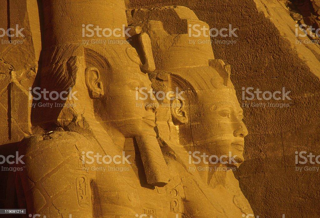 Egypt, Abul Simbel, Hanses II and Nefertari stock photo