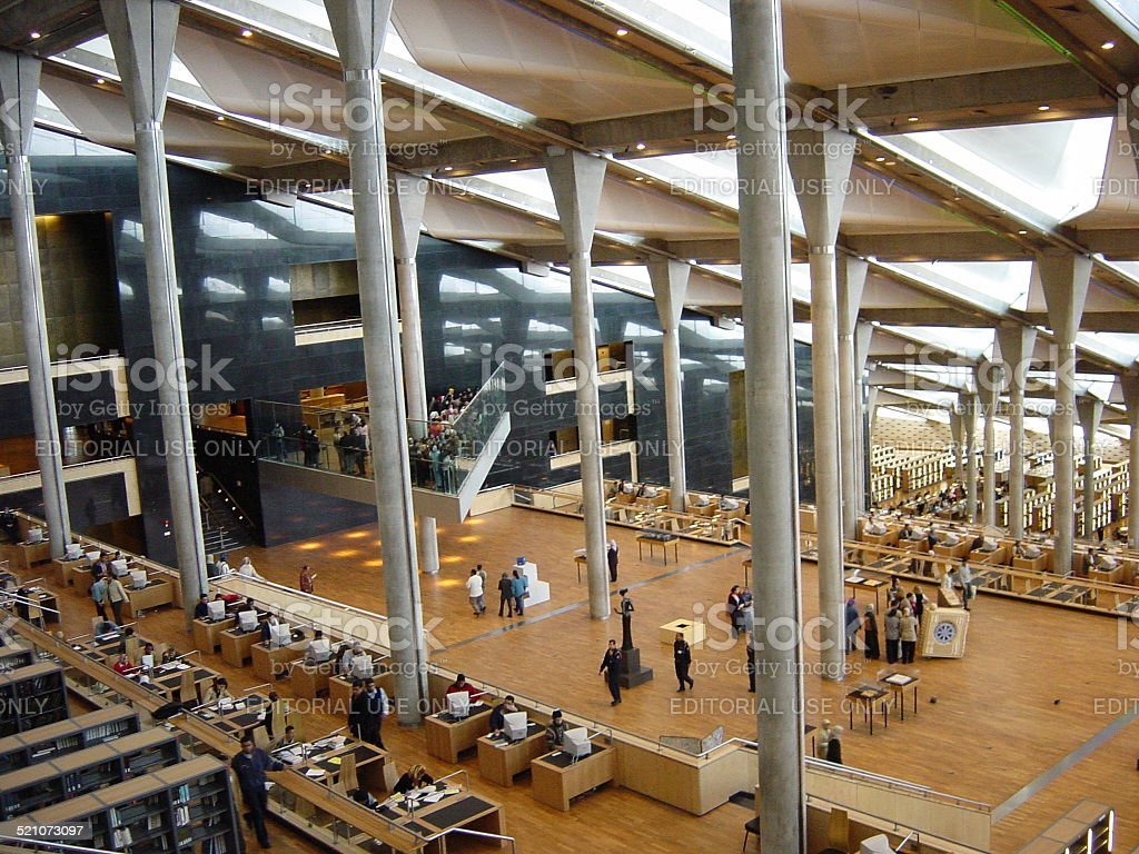 Egito, Alexandria-The library. - foto de acervo
